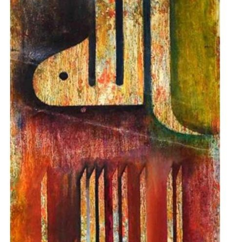 ROOHY KHAN, TITLE- CALLIGRAPHY, SIZE- 30/80CM, PRICE- 1000 AED, MODERN C