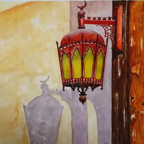 YUVIKA GARG, TITLE- ARABIAN LAMP, SIZE- 38/56CM, PRICE- 1500 AED