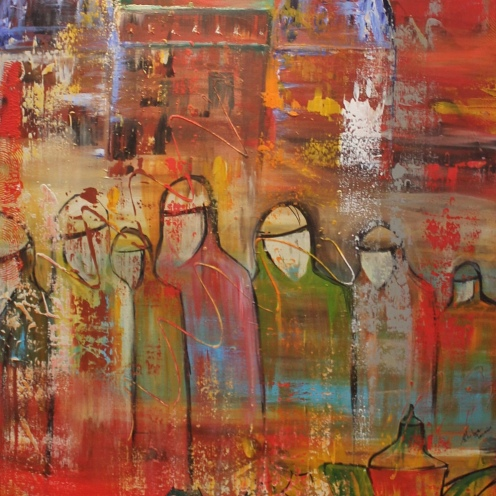 SHIBA KHAN, TITLE- HOPE, SIZE- 80/100CM, PRICE- 2500 AED
