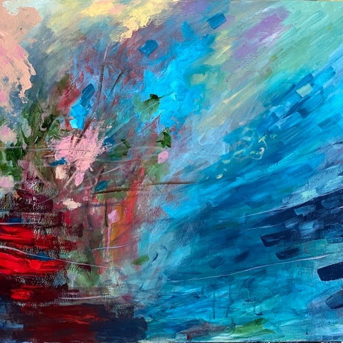 MANISHA ANDRADE, TITLE- WEATHER OF STORM, SIZE- 60/90CM, PRICE- 3000 AED